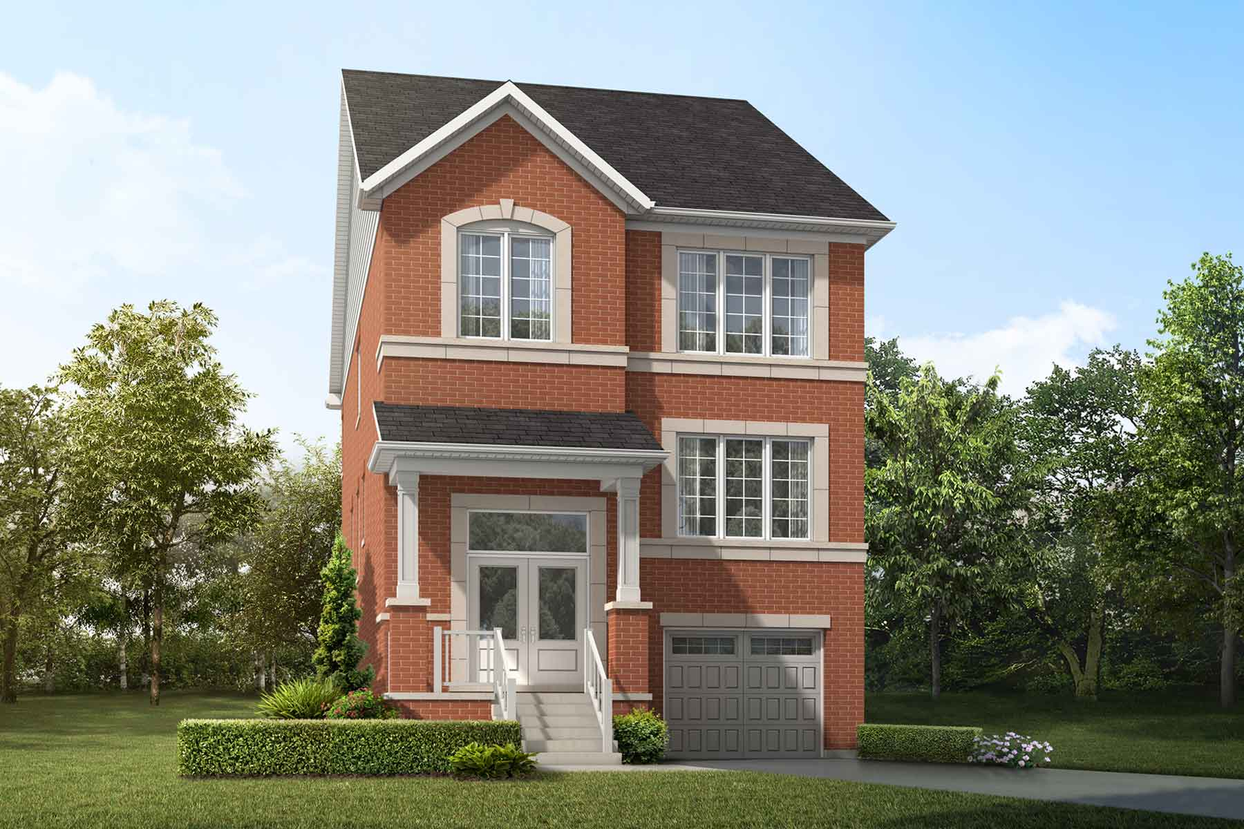 Teal Plan Elevation Front at Springwater in Markham Ontario by Mattamy Homes