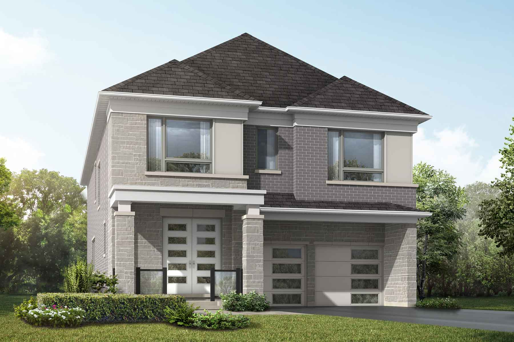Violet Plan Elevation Front at Springwater in Markham Ontario by Mattamy Homes