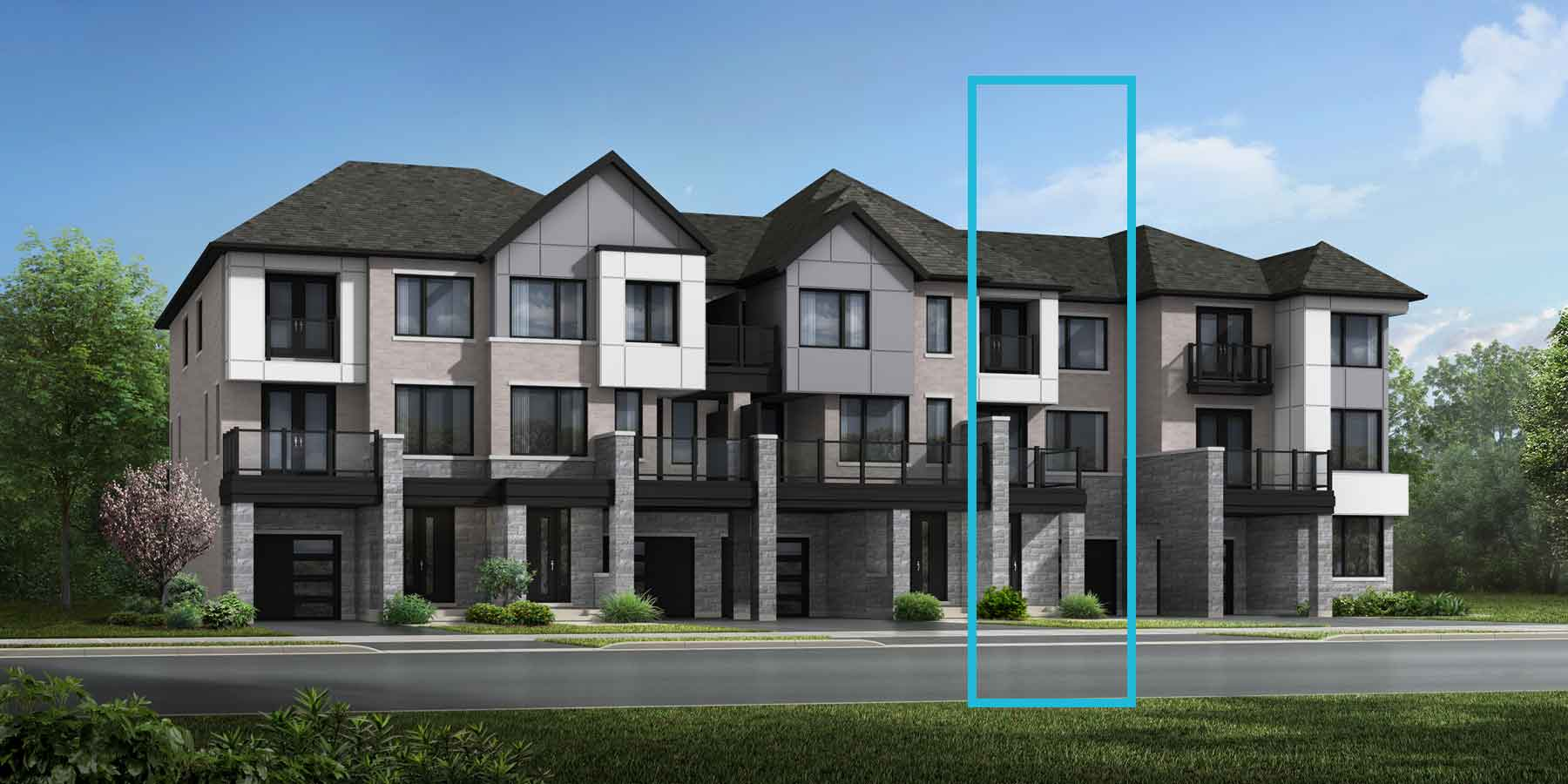 Aldgate Plan TownHomes at The Nine in Mississauga Ontario by Mattamy Homes