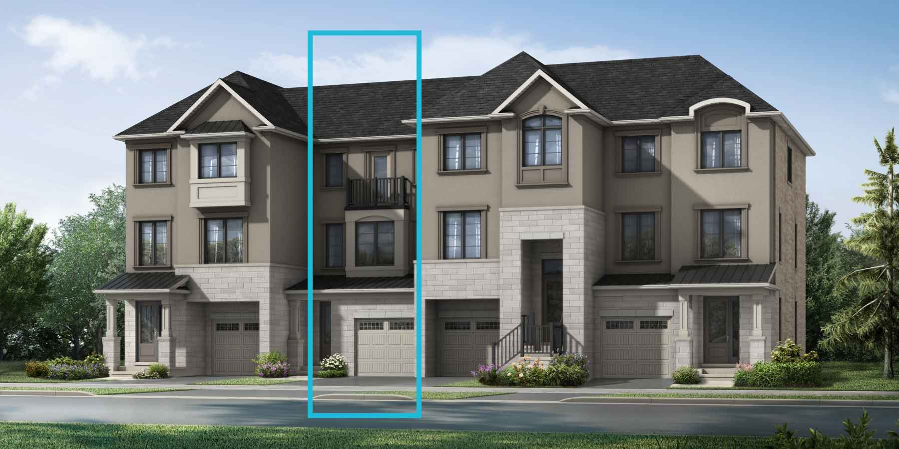 Northwick Plan TownHomes at The Nine in Mississauga Ontario by Mattamy Homes