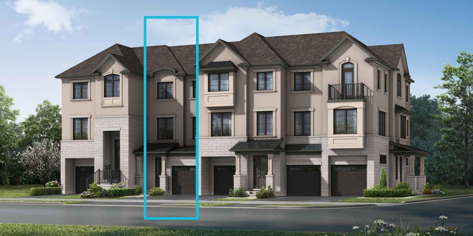 Paddington Plan TownHomes at The Nine in Mississauga Ontario by Mattamy Homes