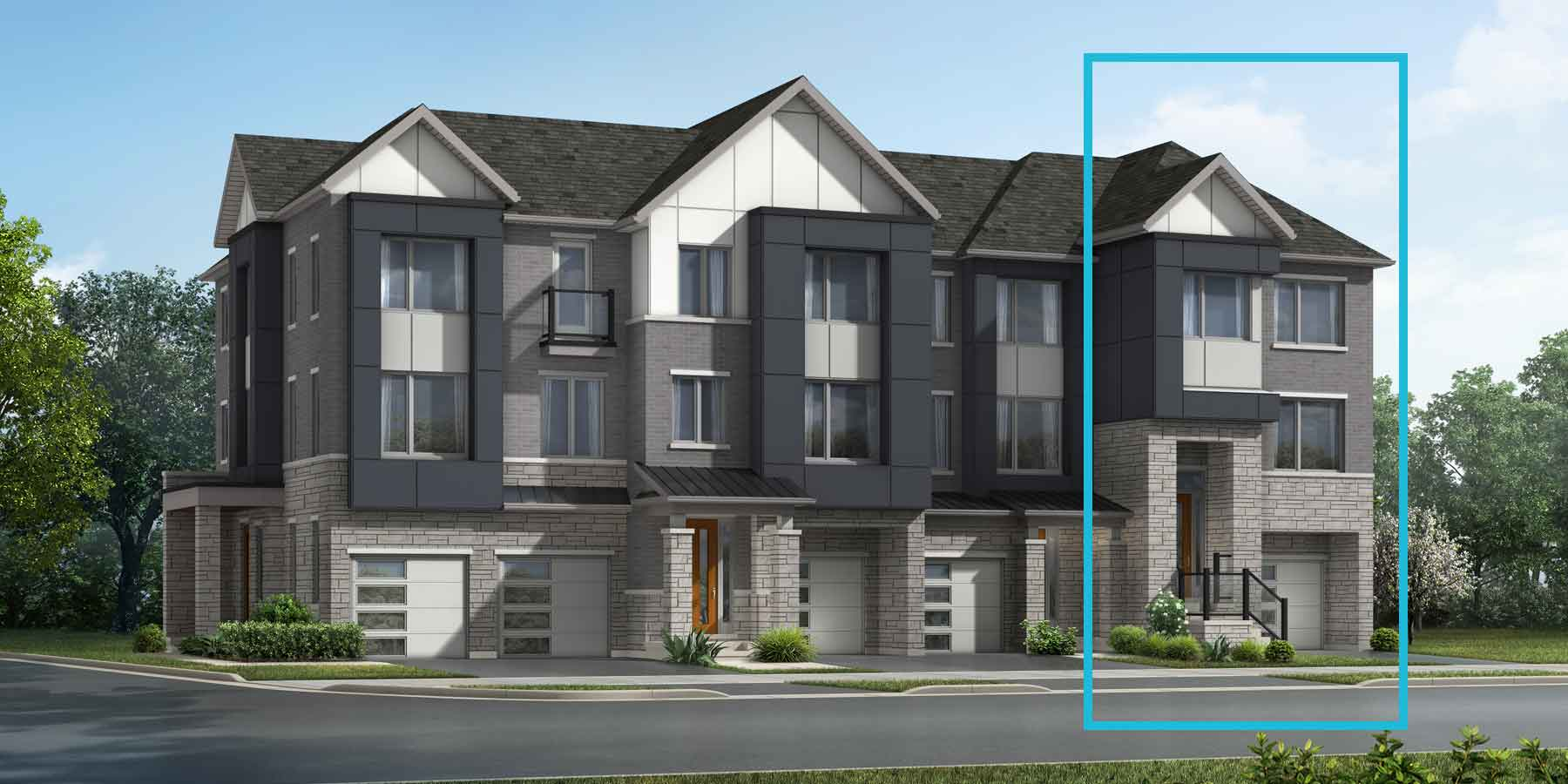 Preston End Plan TownHomes at The Nine in Mississauga Ontario by Mattamy Homes
