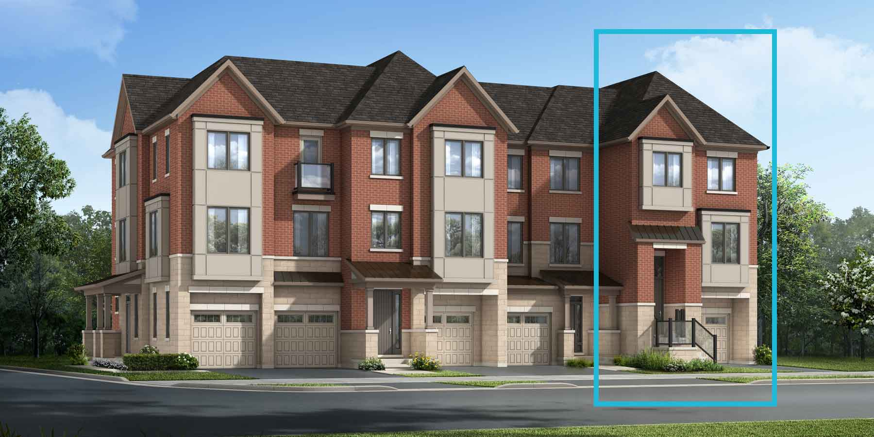 Preston End Plan traditional_thenine_prestonend at The Nine in Mississauga Ontario by Mattamy Homes