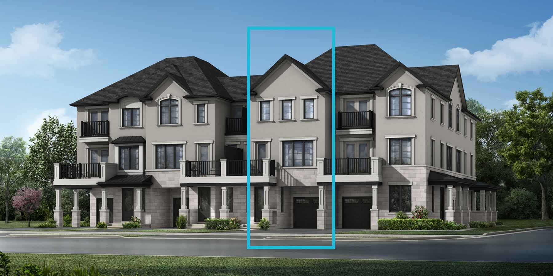 Richmond Plan TownHomes at The Nine in Mississauga Ontario by Mattamy Homes
