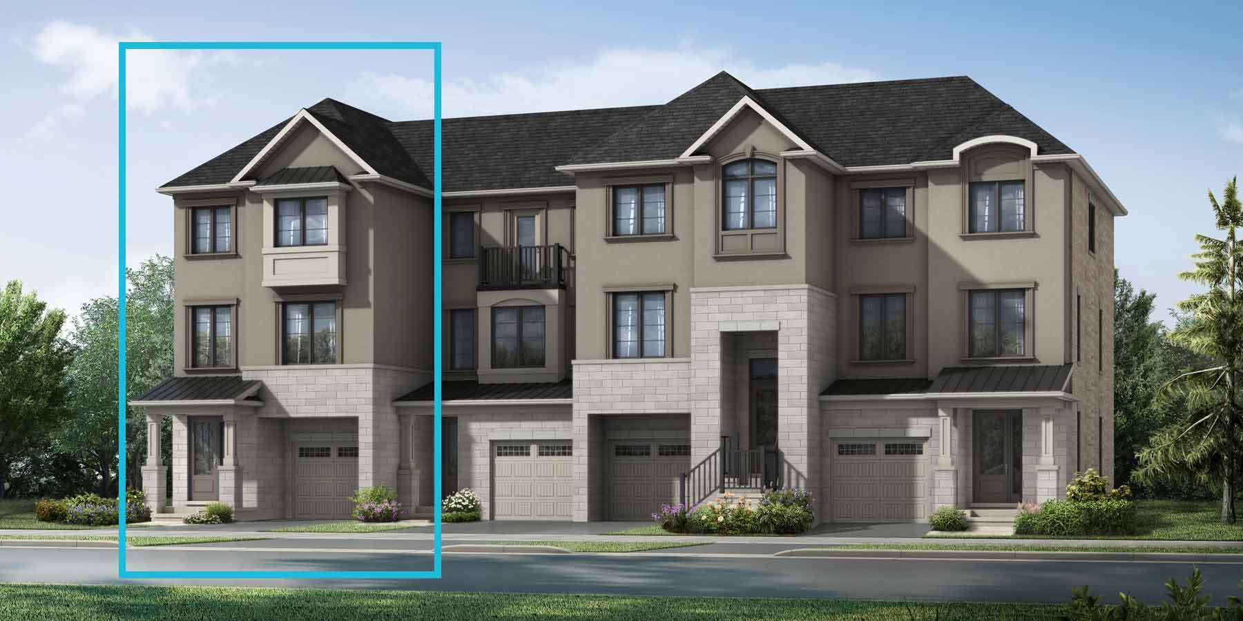Uxbridge End Plan TownHomes at The Nine in Mississauga Ontario by Mattamy Homes