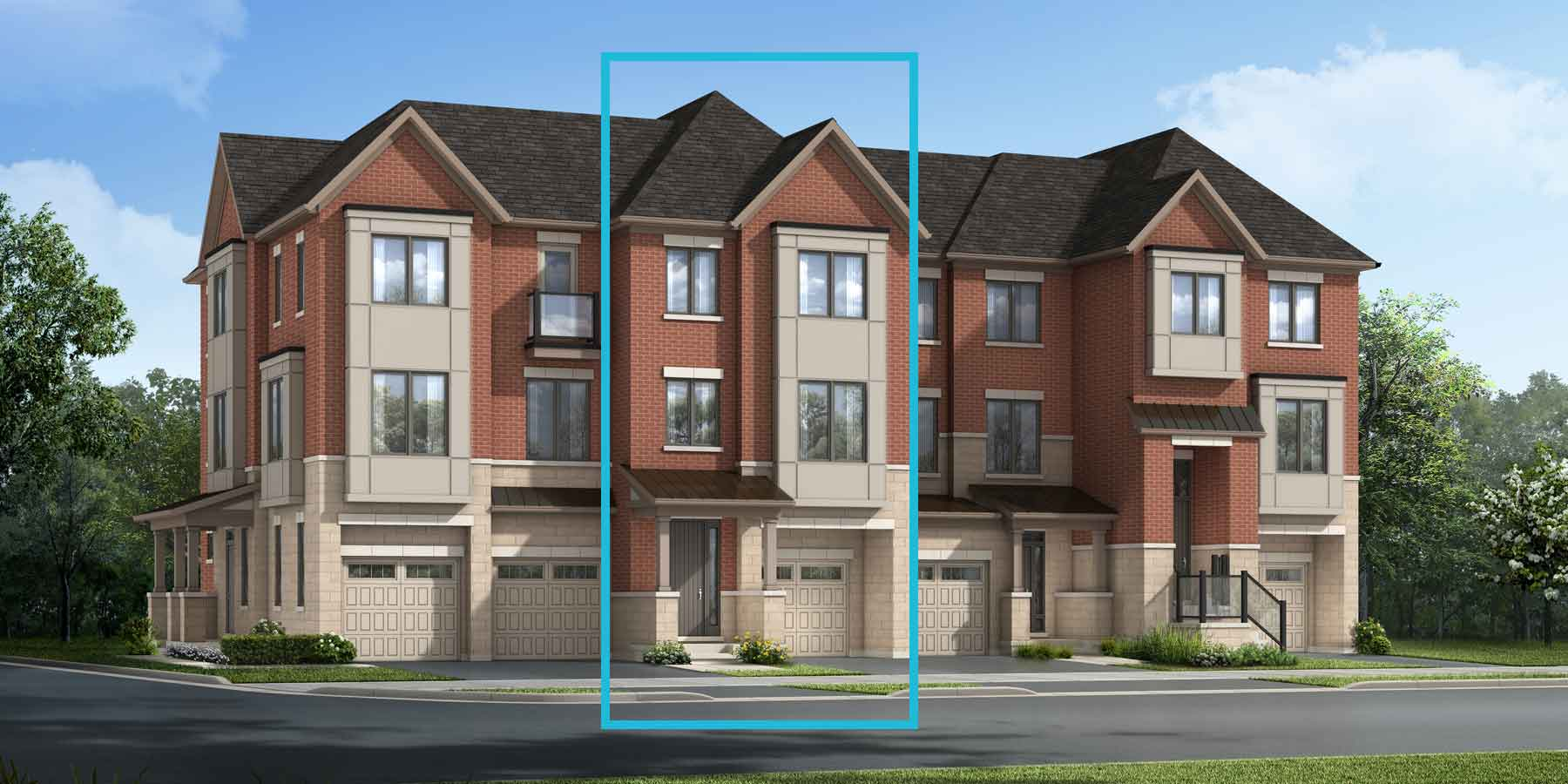 Uxbridge Plan TownHomes at The Nine in Mississauga Ontario by Mattamy Homes