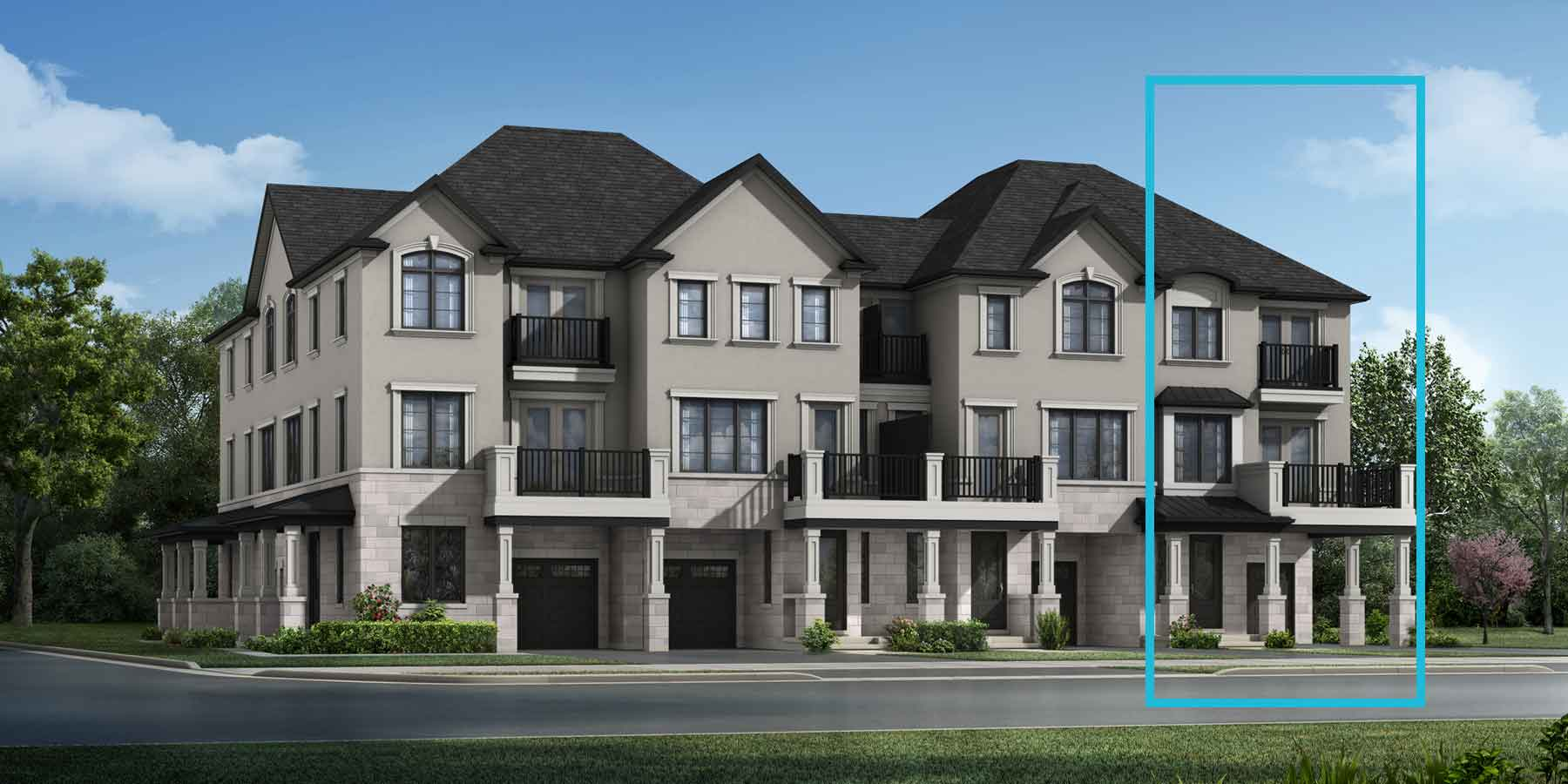 Woodford End Plan TownHomes at The Nine in Mississauga Ontario by Mattamy Homes