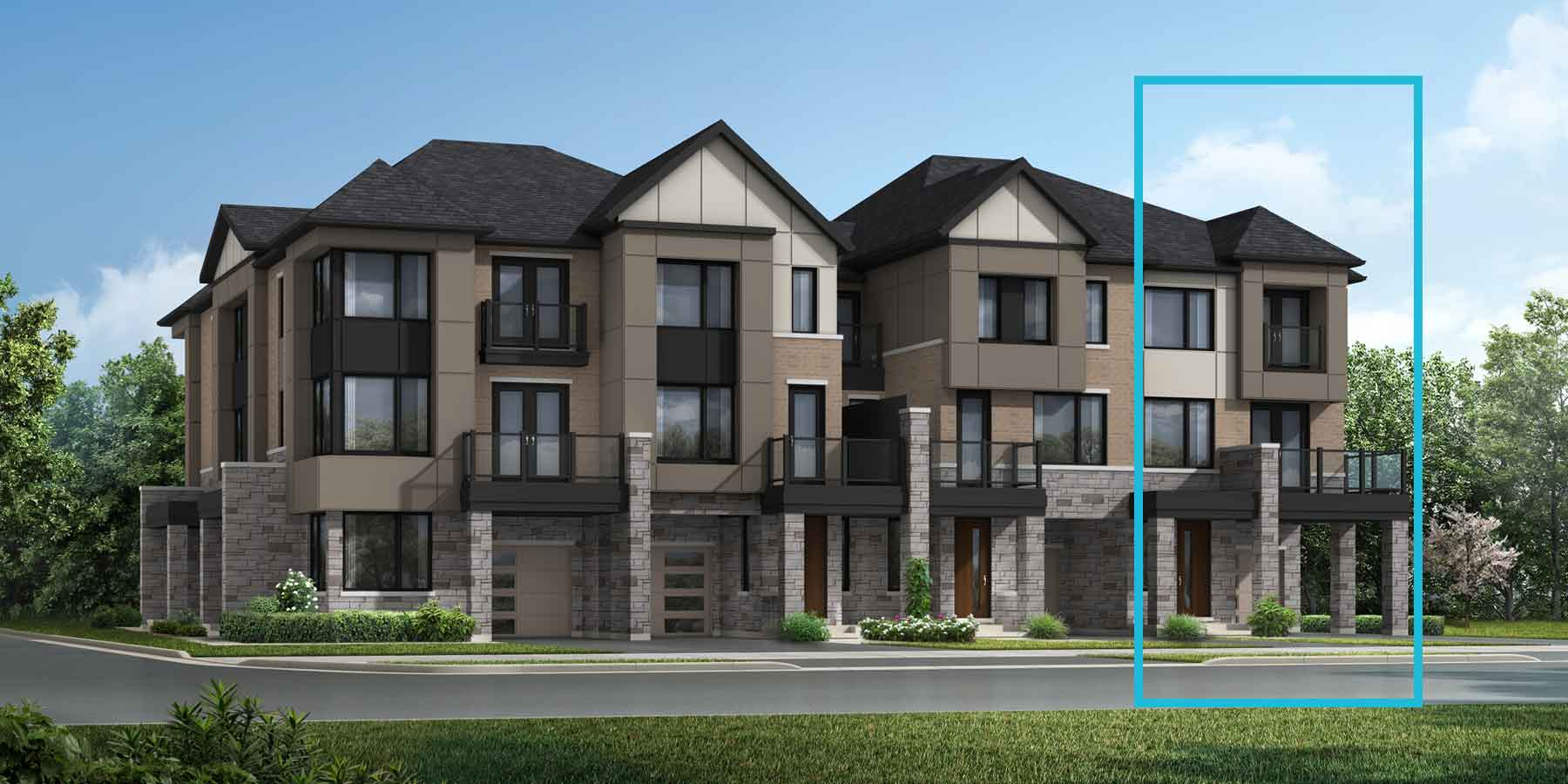 Woodford End Plan modern_thenine_woodfordend_main at The Nine in Mississauga Ontario by Mattamy Homes