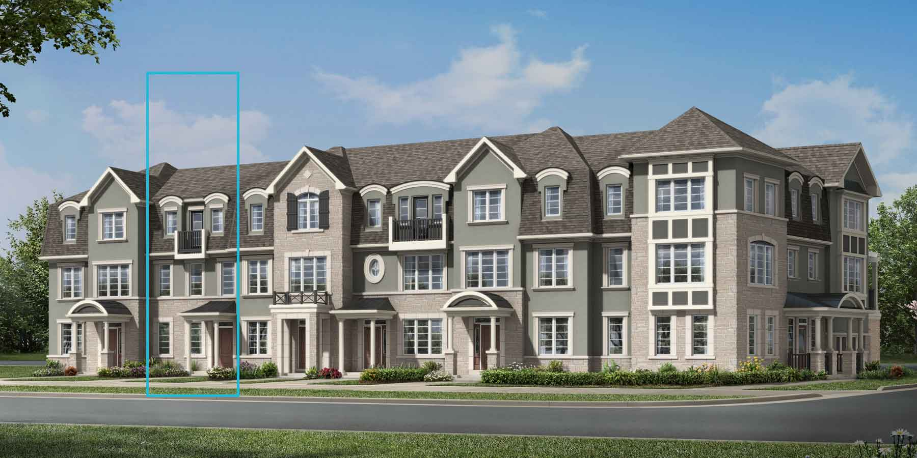 Windfield Plan TownHomes at Upper Joshua Creek in Oakville Ontario by Mattamy Homes