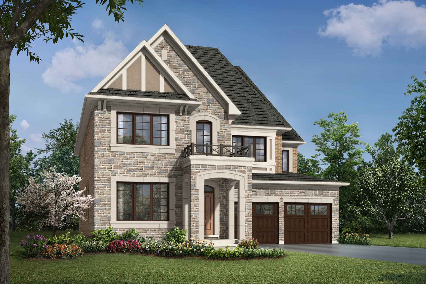 Beauford Plan Elevation Front at Upper Joshua Creek in Oakville Ontario by Mattamy Homes