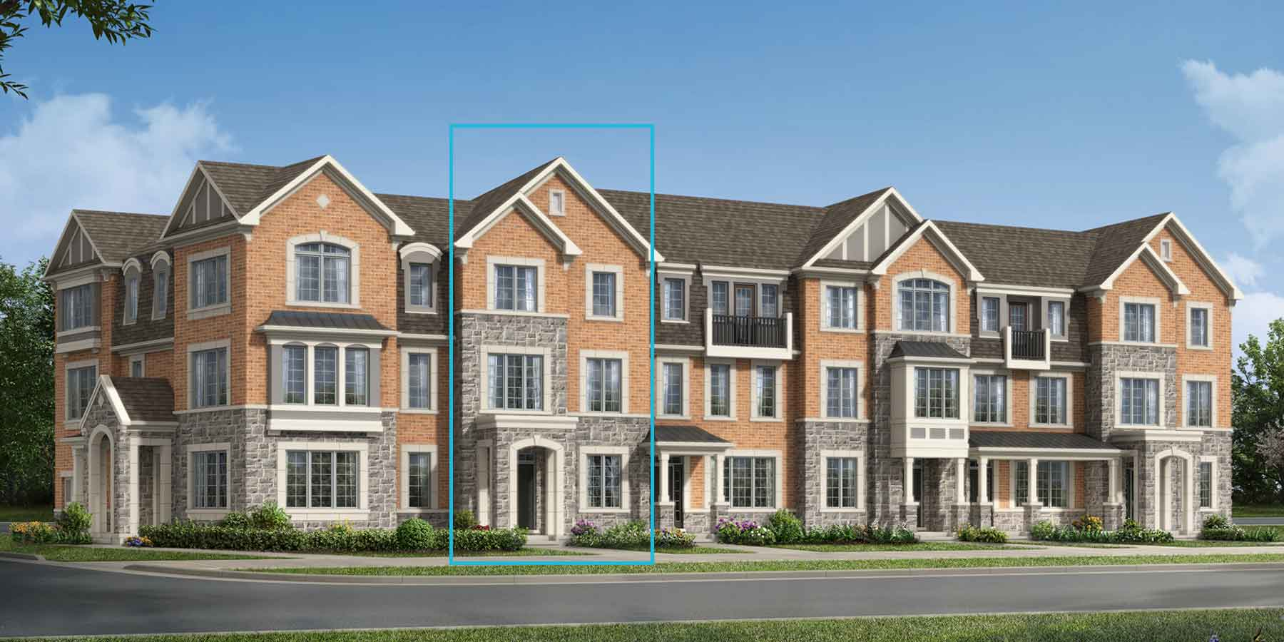 Chestnut East Plan TownHomes at Upper Joshua Creek in Oakville Ontario by Mattamy Homes
