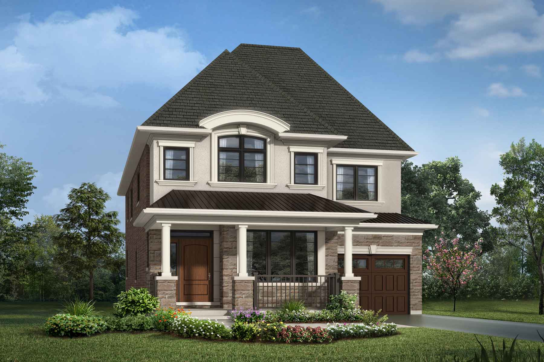 Kingsley Plan Elevation Front at Upper Joshua Creek in Oakville Ontario by Mattamy Homes