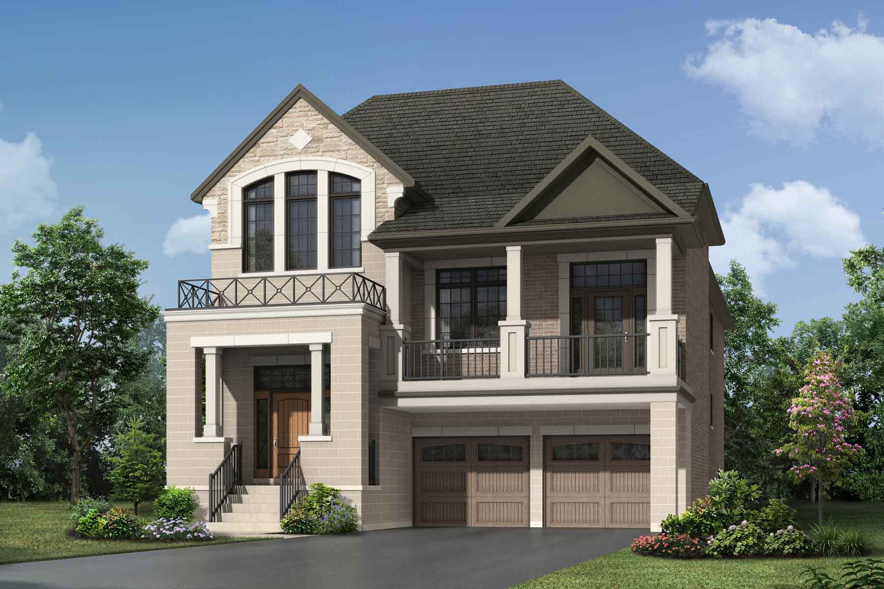 Windfield Plan Elevation Front at Upper Joshua Creek in Oakville Ontario by Mattamy Homes