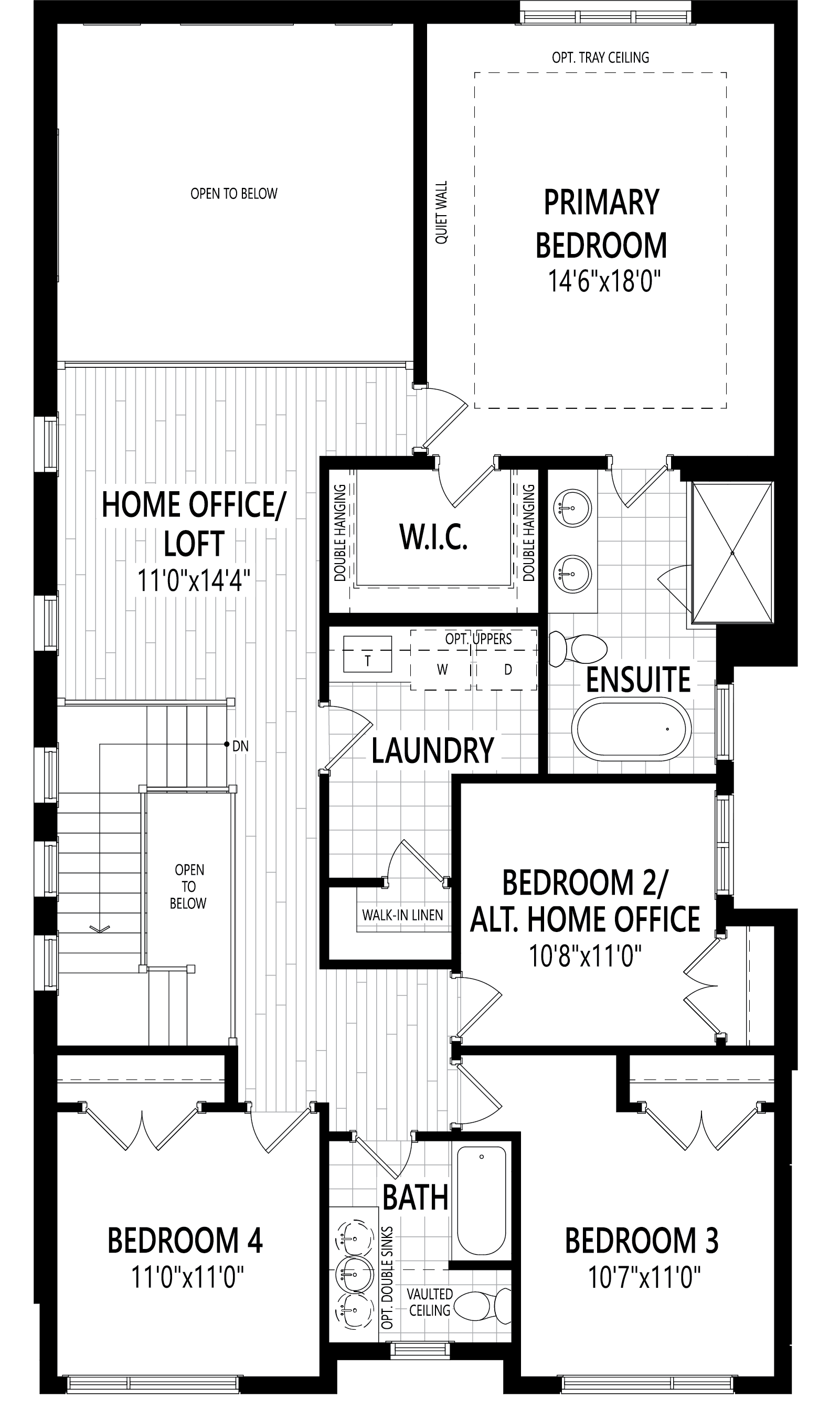 Windfield Plan Floor Plan at Upper Joshua Creek in Oakville Ontario by Mattamy Homes