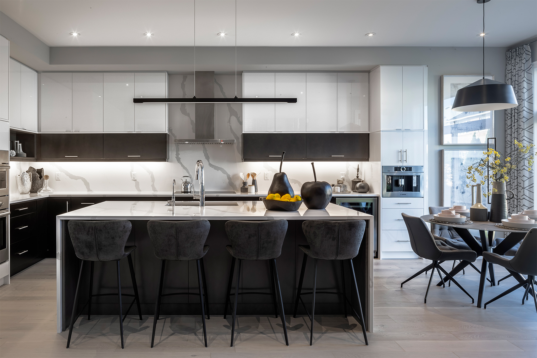 Windfield Plan Kitchen at Upper Joshua Creek in Oakville Ontario by Mattamy Homes