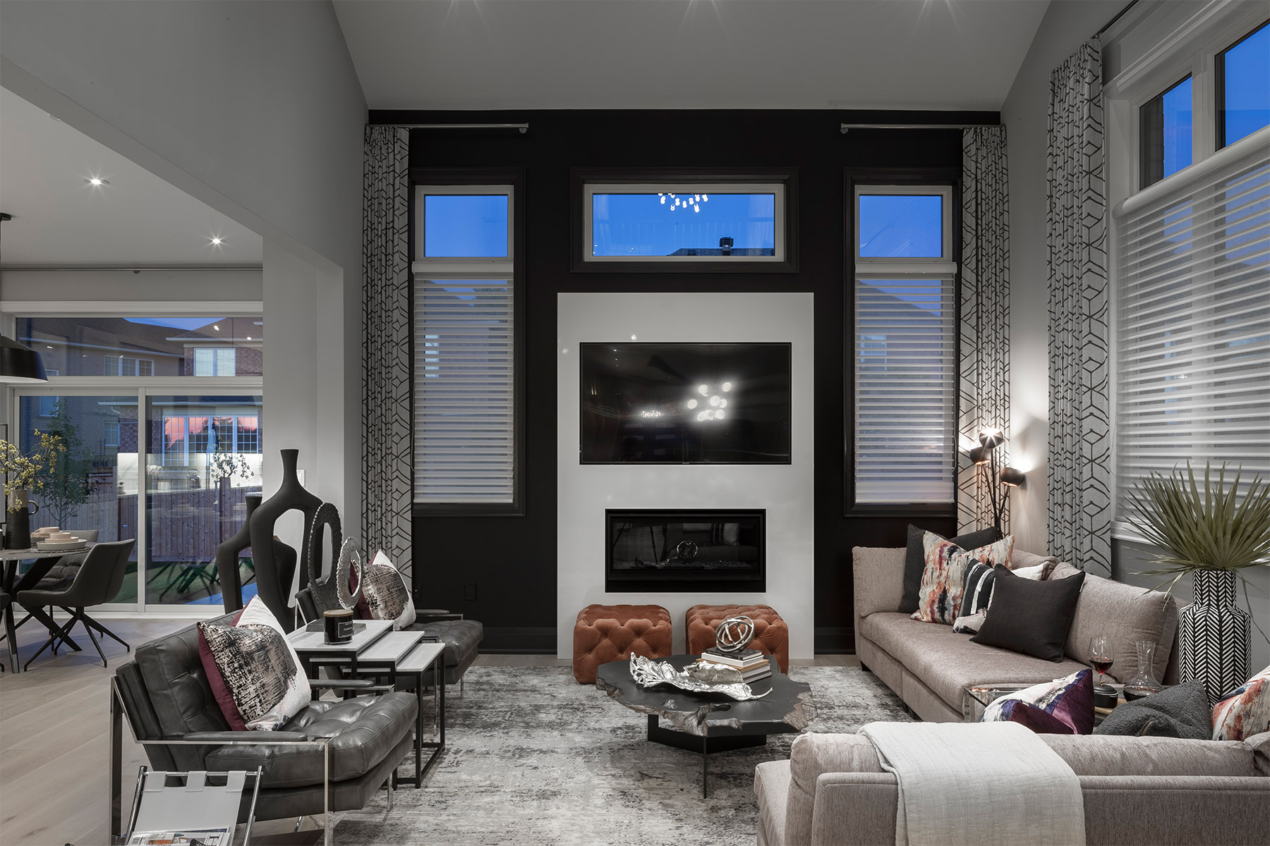 Windfield Plan Greatroom at Upper Joshua Creek in Oakville Ontario by Mattamy Homes