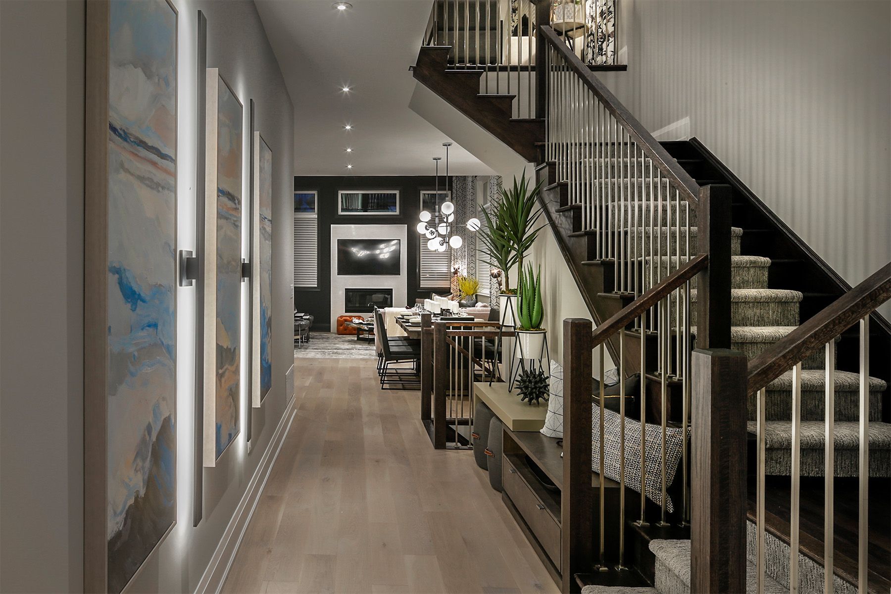 Windfield Plan Hallway at Upper Joshua Creek in Oakville Ontario by Mattamy Homes