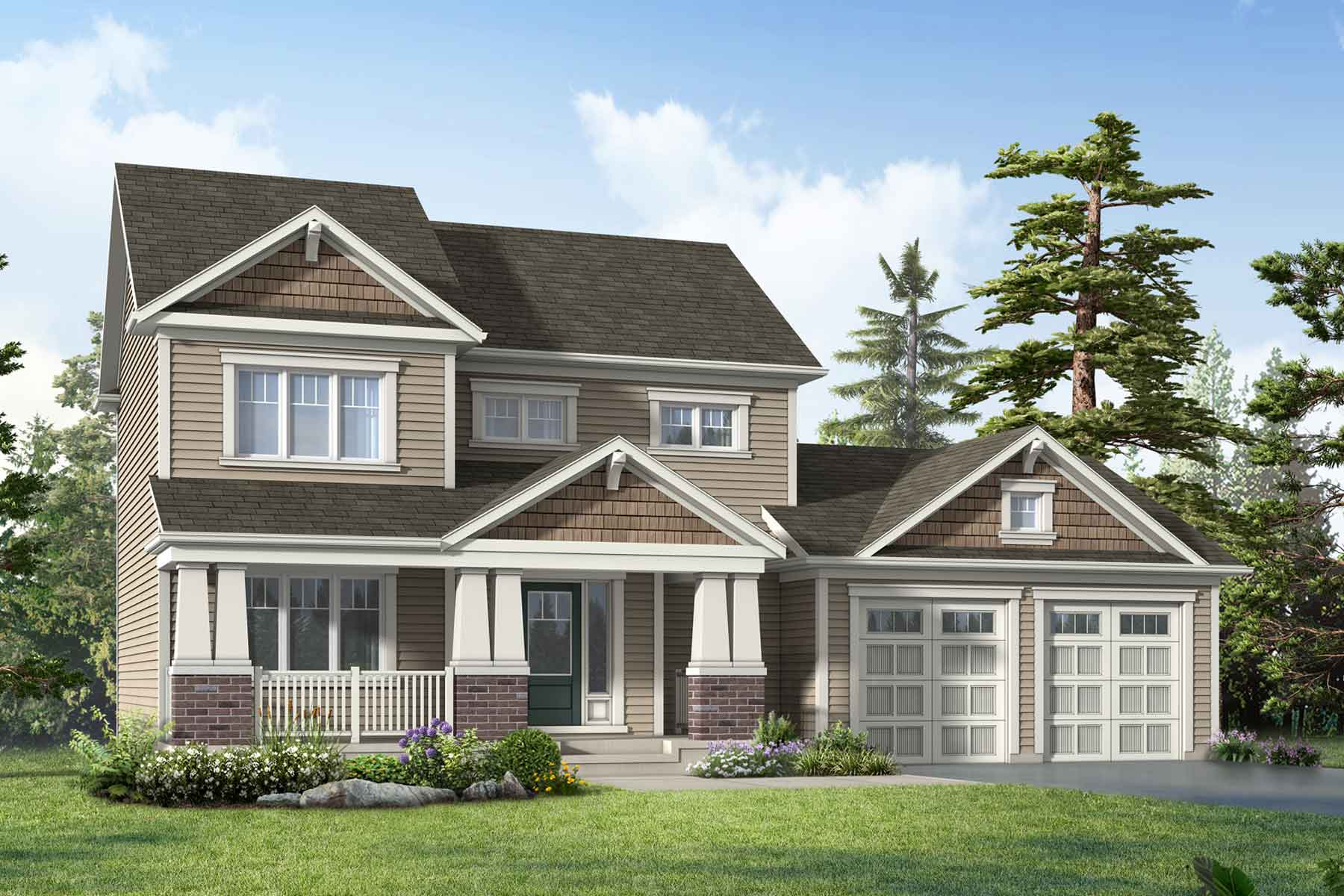 Aspen Plan Elevation Front at White Pines in Bracebridge Ontario by Mattamy Homes