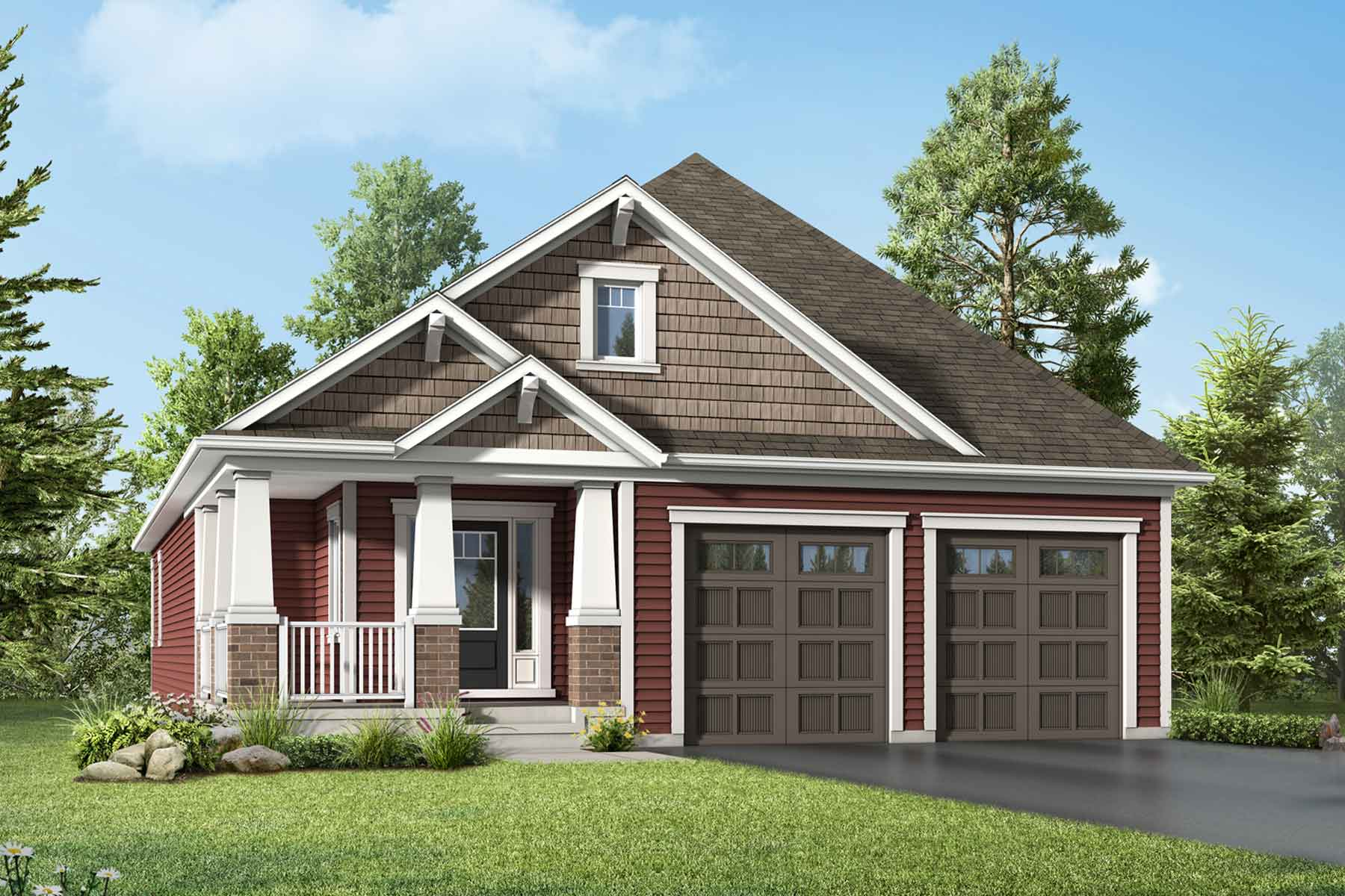 Balsam Plan Elevation Front at White Pines in Bracebridge Ontario by Mattamy Homes