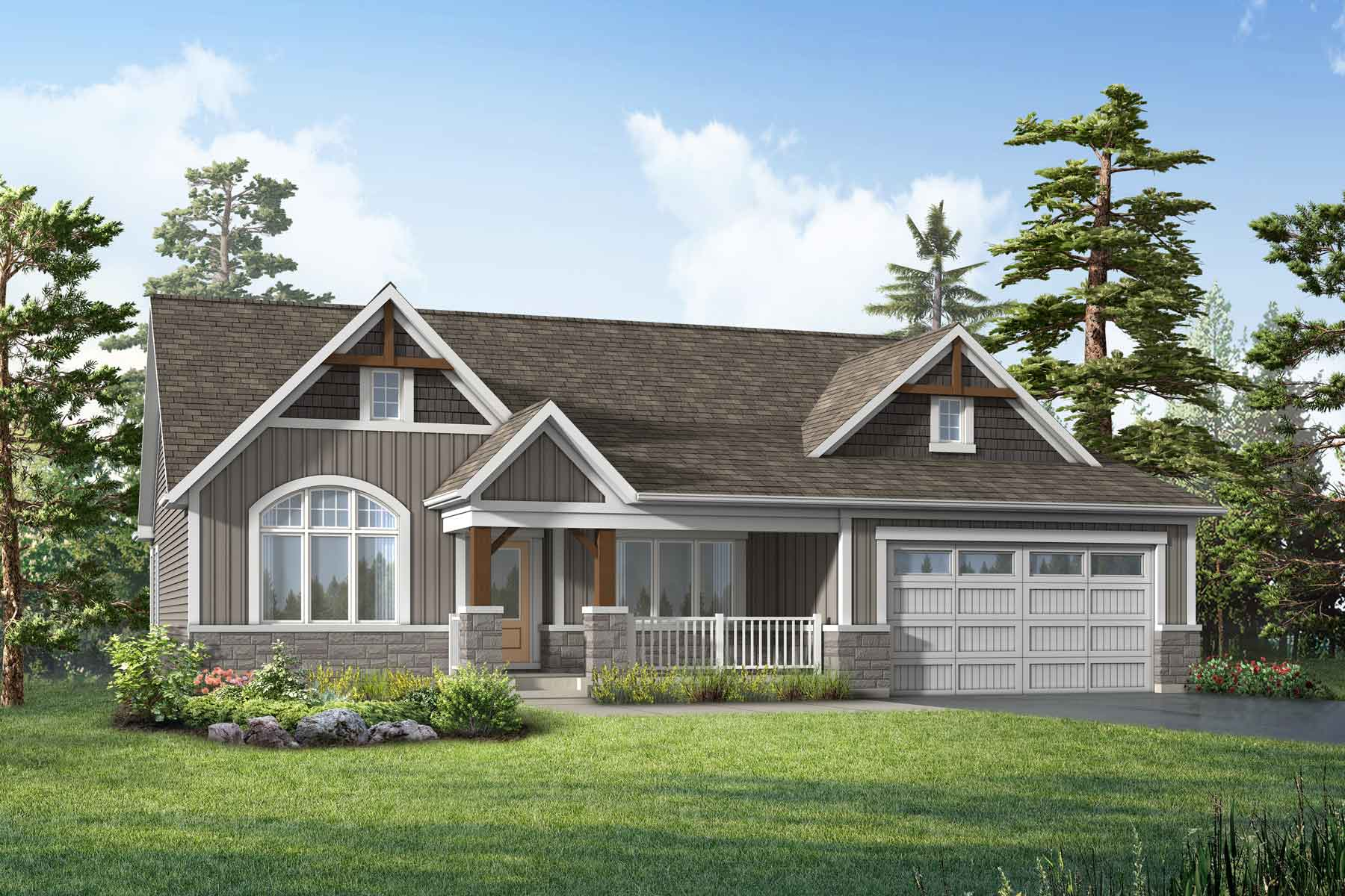 White Pines Elevation Front in Bracebridge Ontario by Mattamy Homes