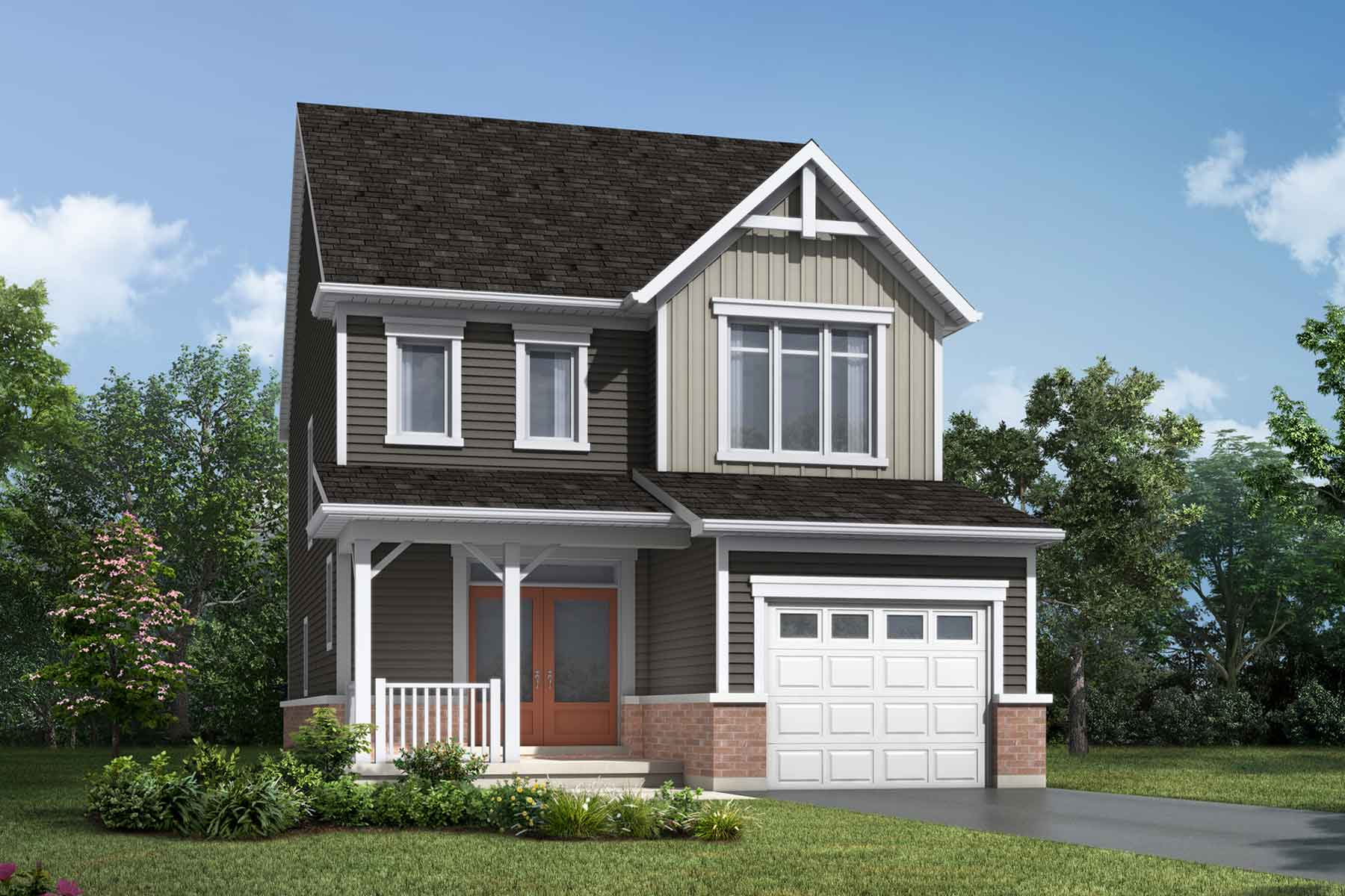 The Alderview Plan farmhouse_southestates_alderview at Wildflower Crossing in Kitchener Ontario by Mattamy Homes