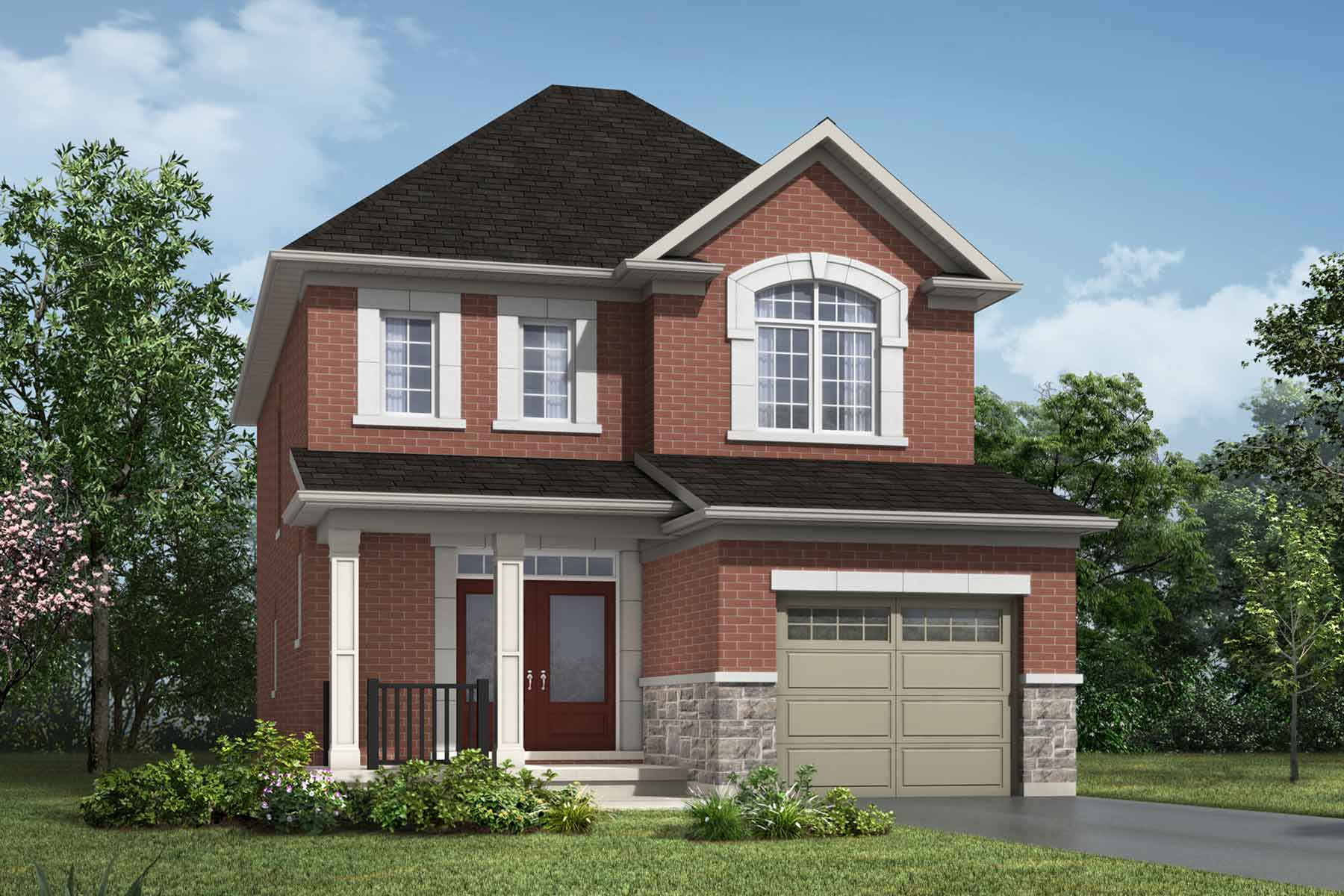 The Alderview Plan Elevation Front at Wildflower Crossing in Kitchener Ontario by Mattamy Homes
