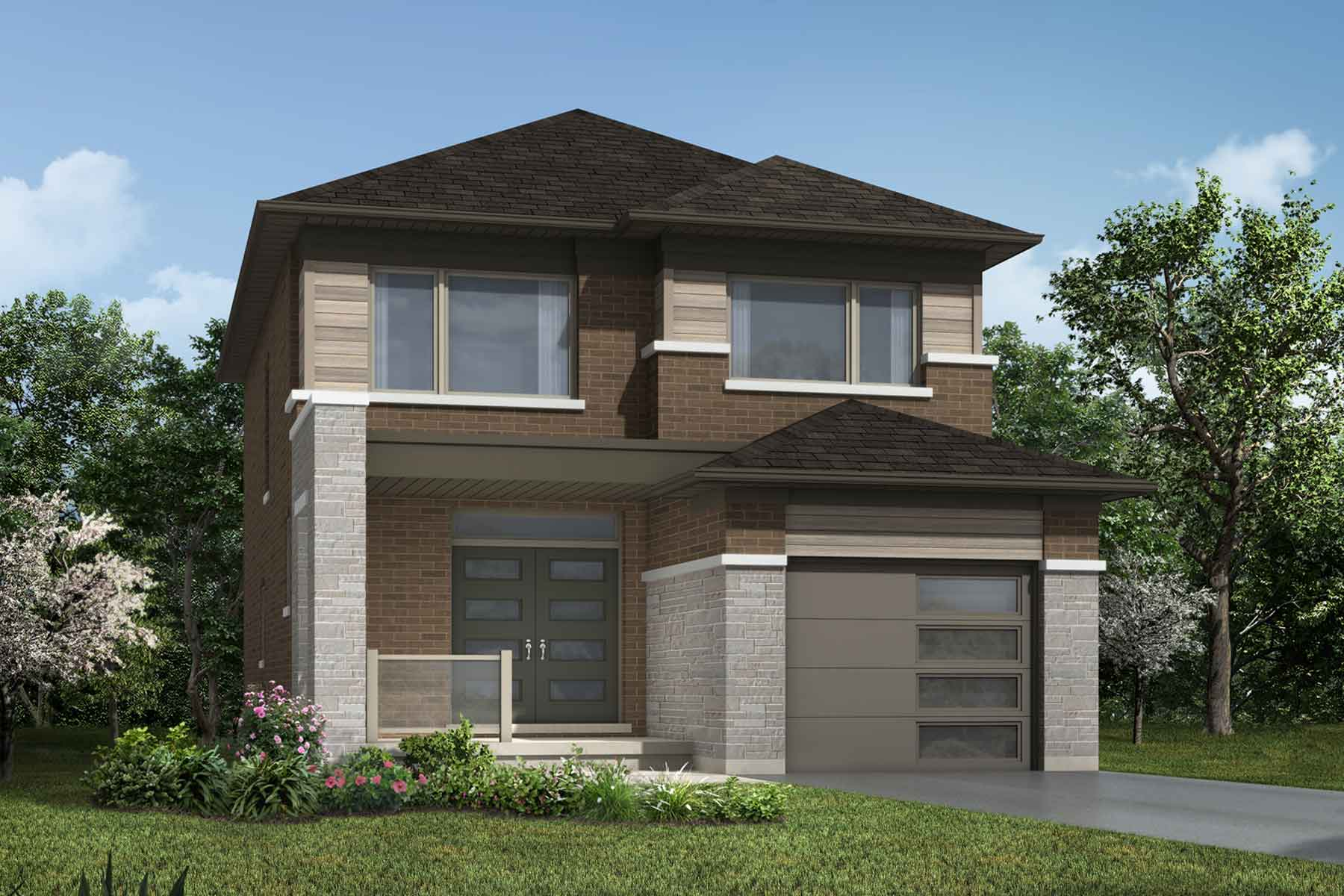 The Alderview Plan transitional_southestates_alderview_main at Wildflower Crossing in Kitchener Ontario by Mattamy Homes