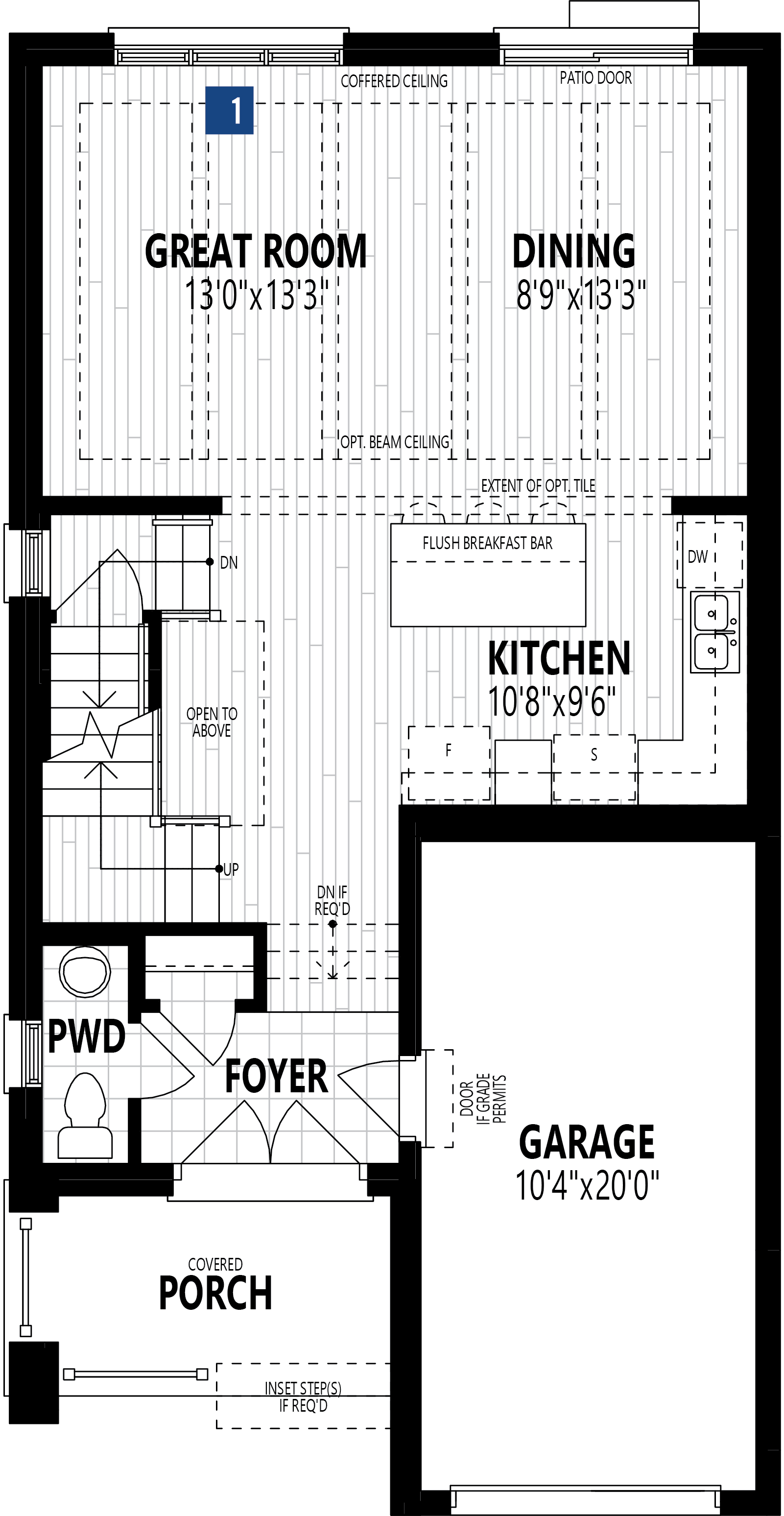 The Alderview Plan Floor Plan at Wildflower Crossing in Kitchener Ontario by Mattamy Homes