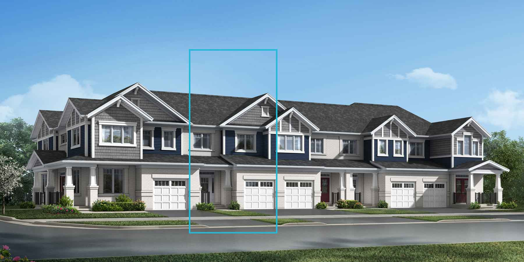 The Berlin Plan TownHomes at Wildflower Crossing in Kitchener Ontario by Mattamy Homes