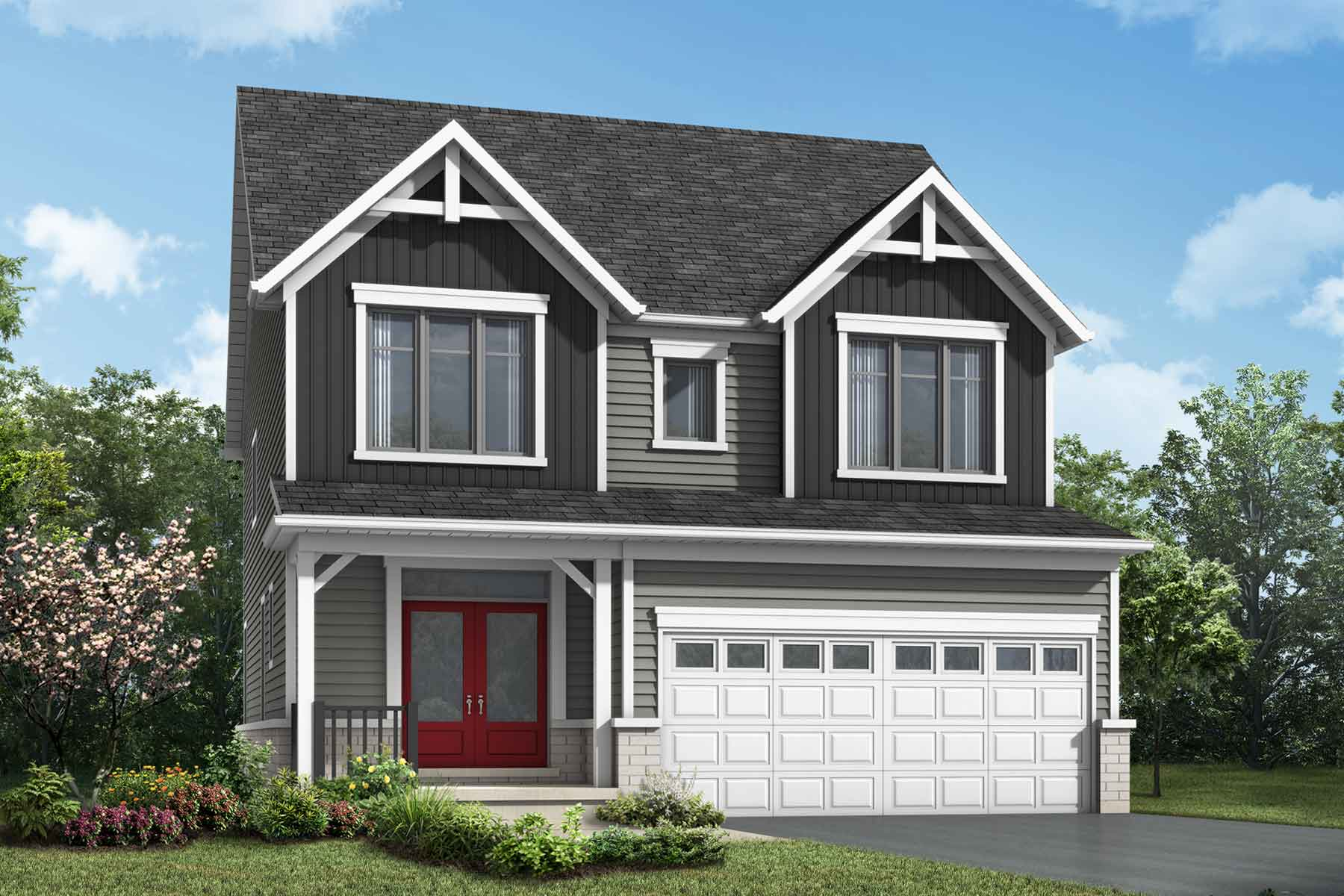 The Brooksdale Plan farmhouse_southestates_brooksdale_main at Wildflower Crossing in Kitchener Ontario by Mattamy Homes