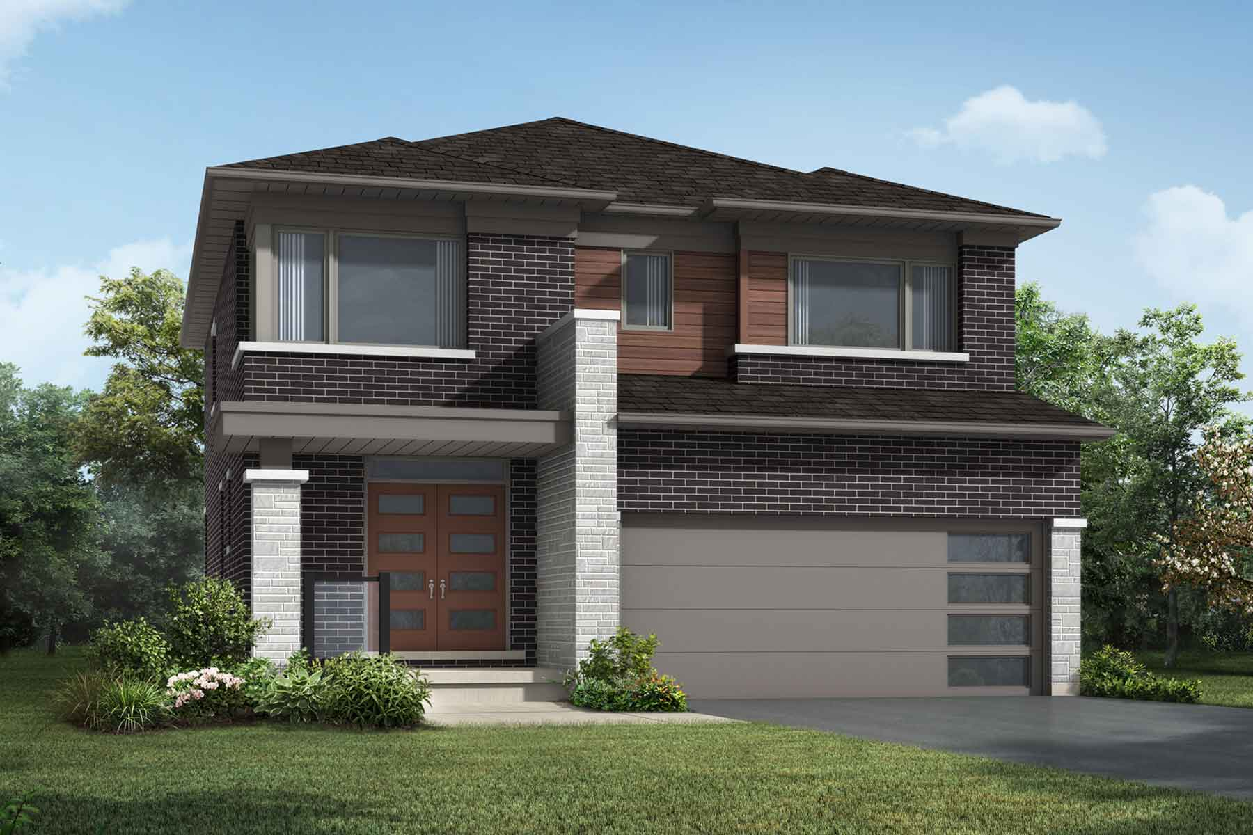 The Brooksdale Plan Elevation Front at Wildflower Crossing in Kitchener Ontario by Mattamy Homes