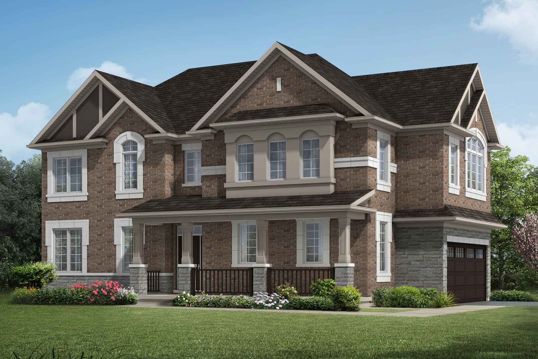 The Millbank End Plan traditional_southestates_courtlandcorner_main at Wildflower Crossing in Kitchener Ontario by Mattamy Homes