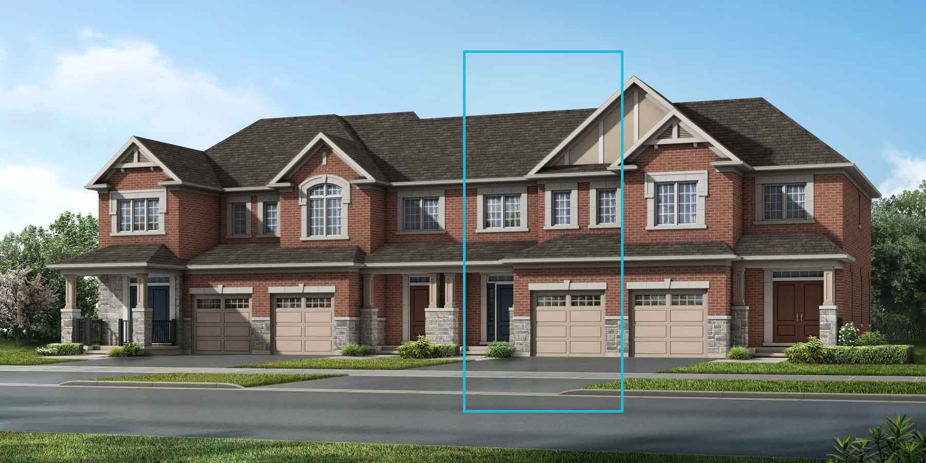 The Cranbrook Plan TownHomes at Wildflower Crossing in Kitchener Ontario by Mattamy Homes
