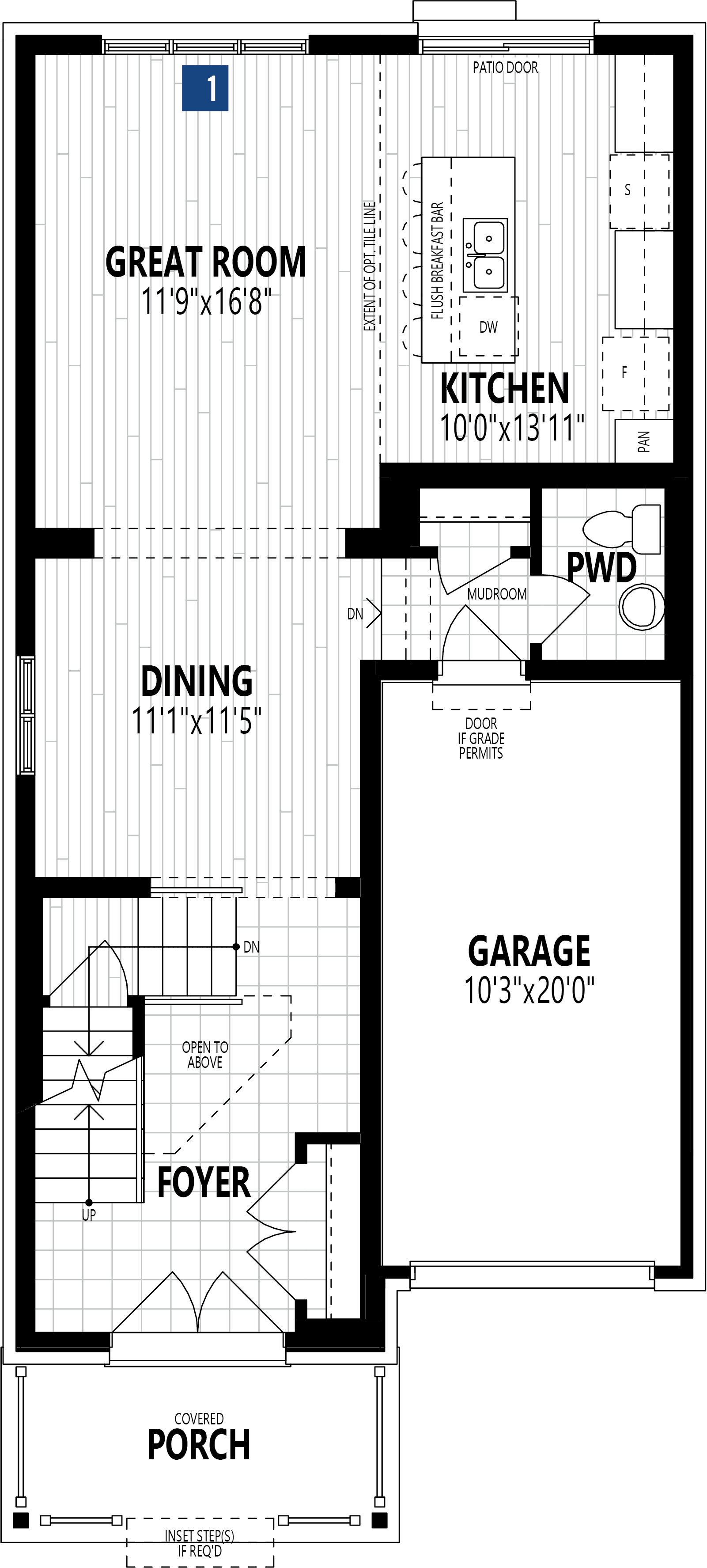 The Dundee Plan Floor Plan at Wildflower Crossing in Kitchener Ontario by Mattamy Homes