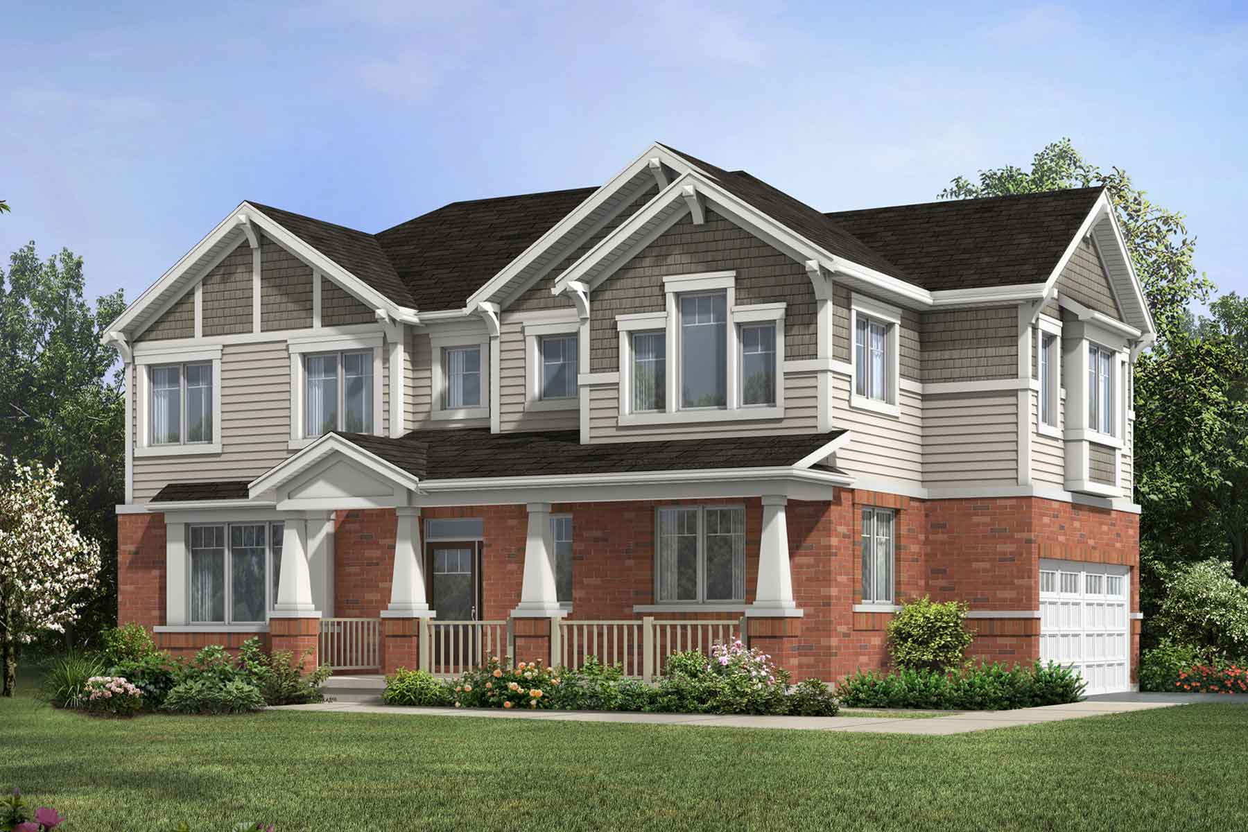 The Elmbank Corner Plan TownHomes at Wildflower Crossing in Kitchener Ontario by Mattamy Homes