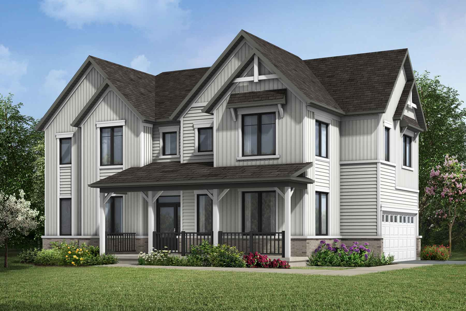 The Elmbank Corner Plan Elevation Front at Wildflower Crossing in Kitchener Ontario by Mattamy Homes