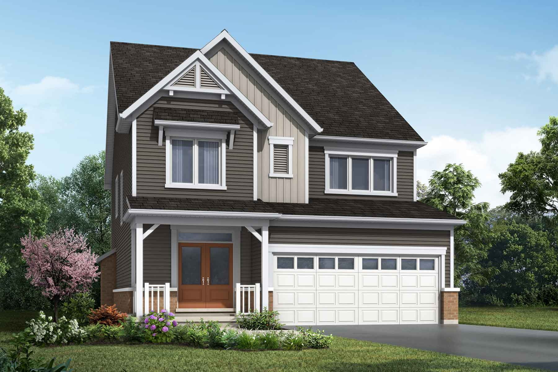 The Hawkesville Plan farmhouse_southestates_hawkesville at Wildflower Crossing in Kitchener Ontario by Mattamy Homes