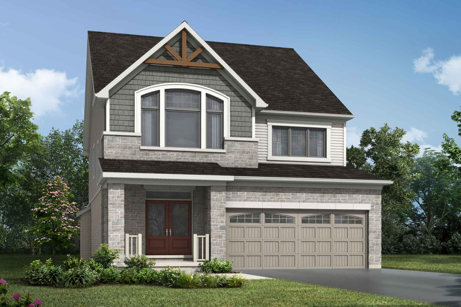 The Hawkesville Plan muskokan_southestates_hawkesville at Wildflower Crossing in Kitchener Ontario by Mattamy Homes