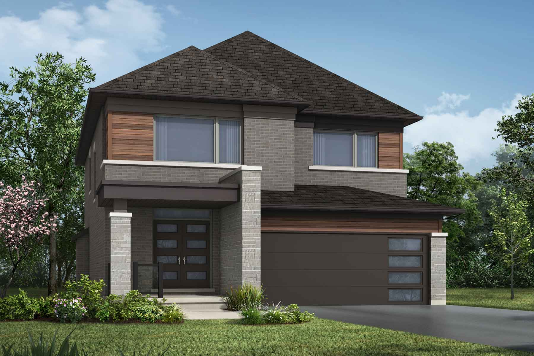 The Hawkesville Plan Elevation Front at Wildflower Crossing in Kitchener Ontario by Mattamy Homes