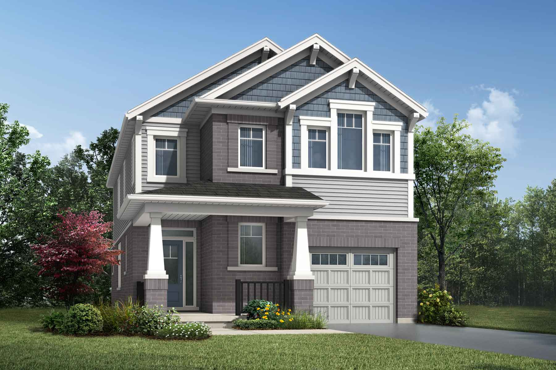 The Linwood Plan craftsman_southestates_linwood_main at Wildflower Crossing in Kitchener Ontario by Mattamy Homes