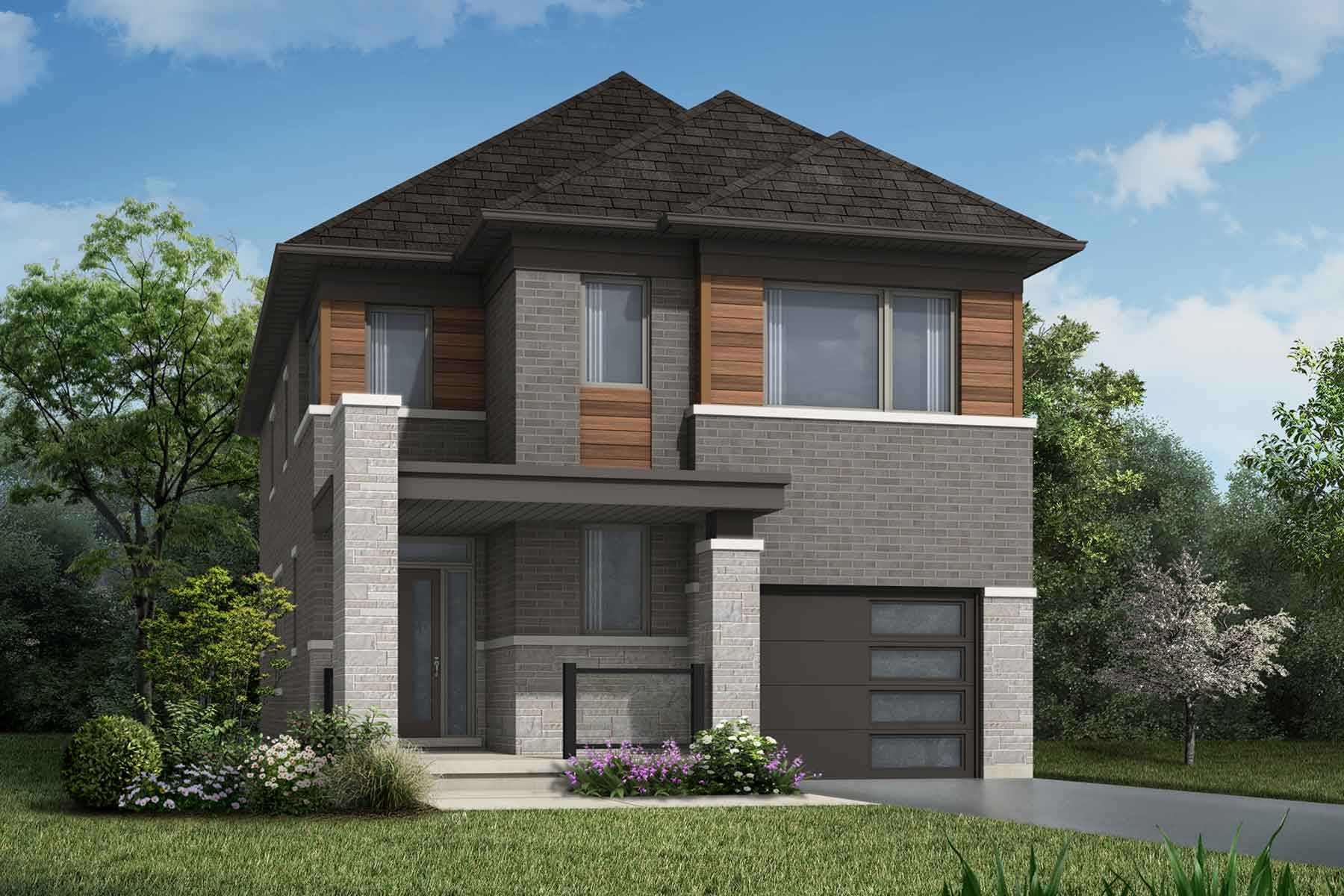 The Linwood Plan Elevation Front at Wildflower Crossing in Kitchener Ontario by Mattamy Homes