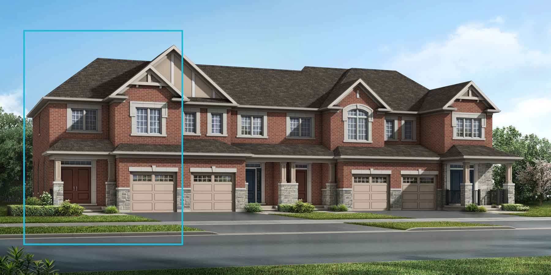 The Millbank End Plan elevationtraditional_southestates_millbankend_main at Wildflower Crossing in Kitchener Ontario by Mattamy Homes