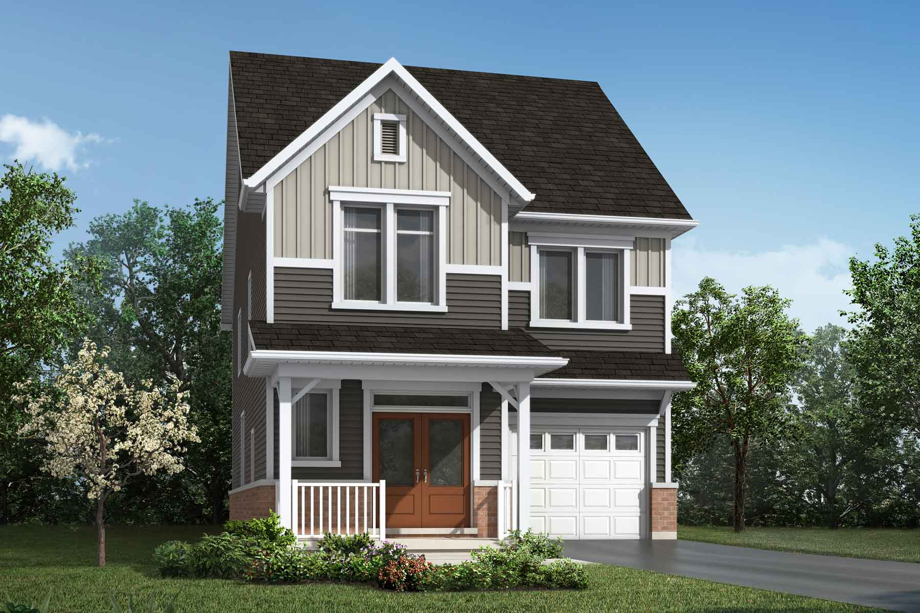 The Oxford Plan farmhouse_southestates_oxford at Wildflower Crossing in Kitchener Ontario by Mattamy Homes