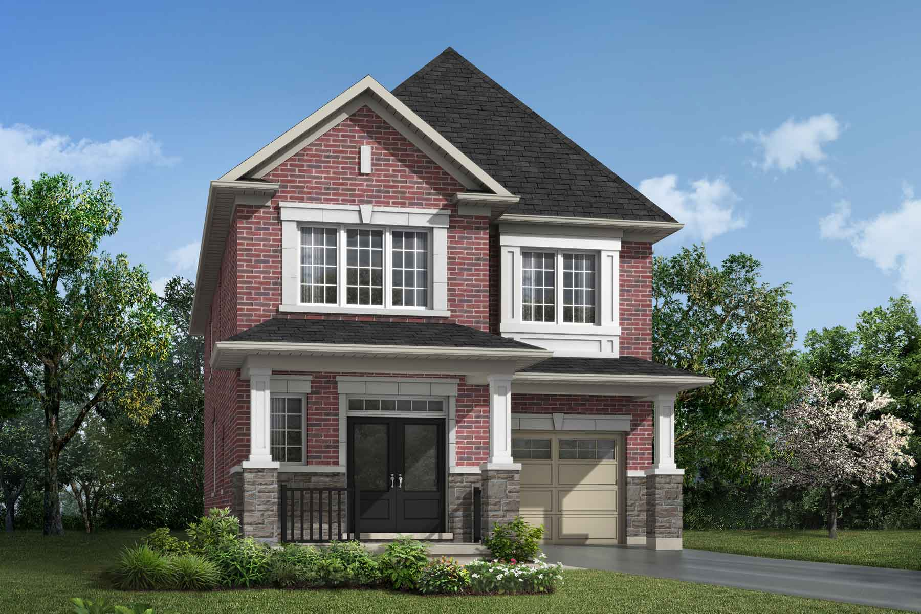 The Millbank End Plan traditional_southestates_oxford_main at Wildflower Crossing in Kitchener Ontario by Mattamy Homes