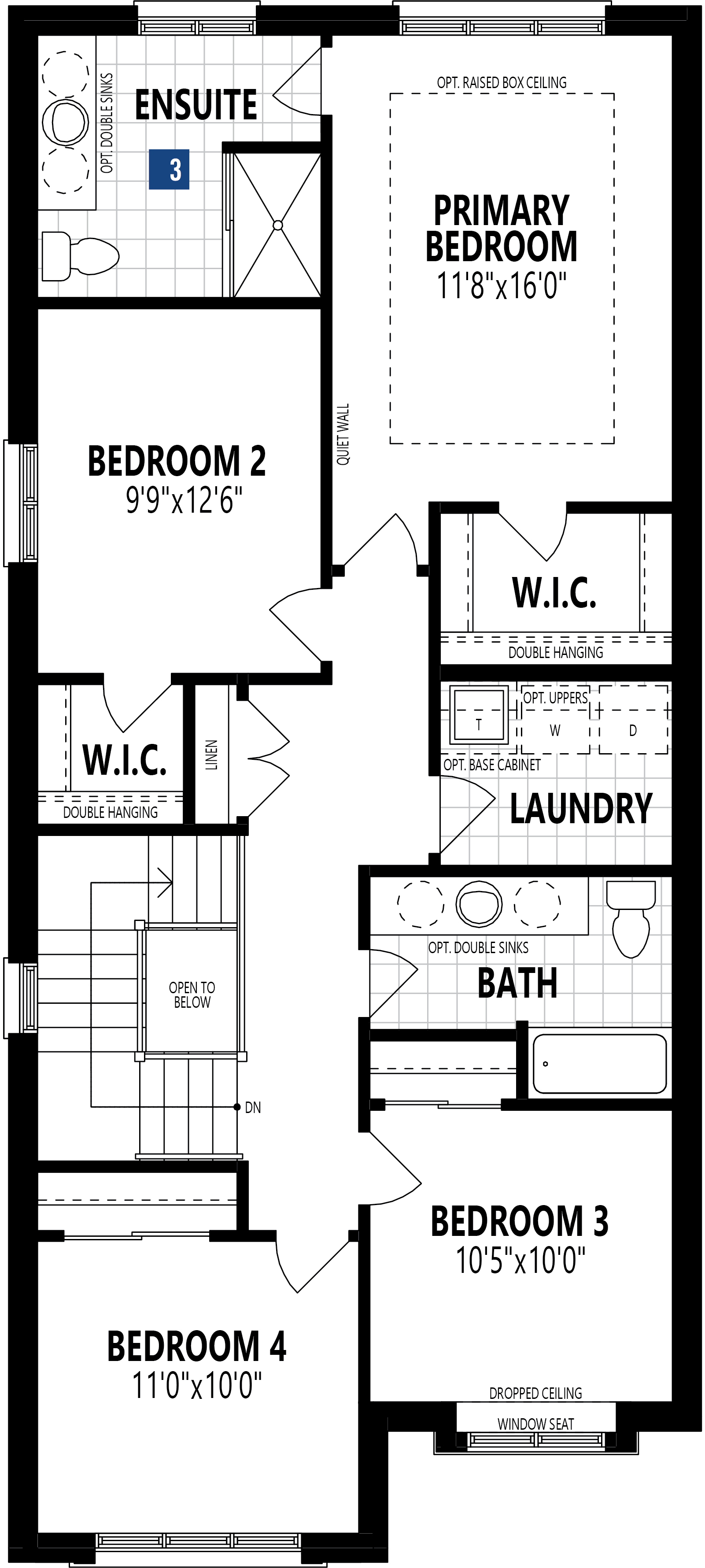 The Oxford Plan Floor Plan at Wildflower Crossing in Kitchener Ontario by Mattamy Homes