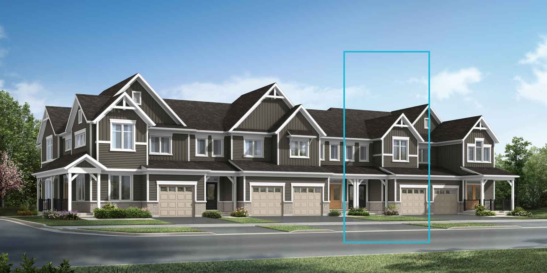 The Princeton Plan TownHomes at Wildflower Crossing in Kitchener Ontario by Mattamy Homes