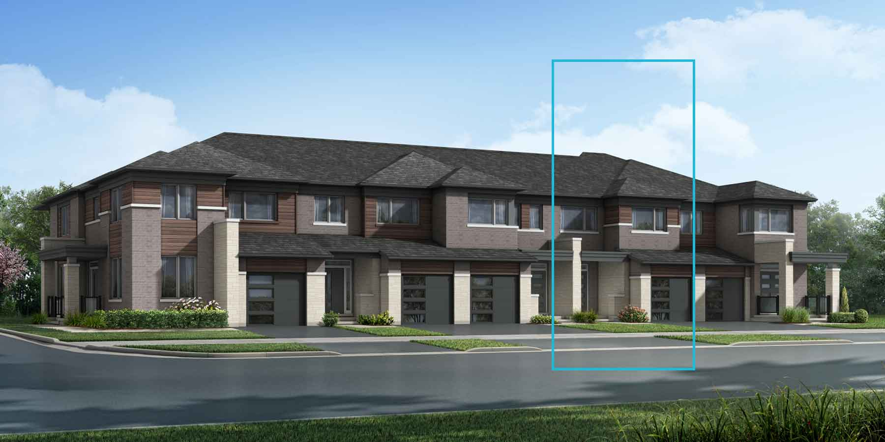 The Millbank End Plan elevationtransitional_southestates_princeton_main at Wildflower Crossing in Kitchener Ontario by Mattamy Homes