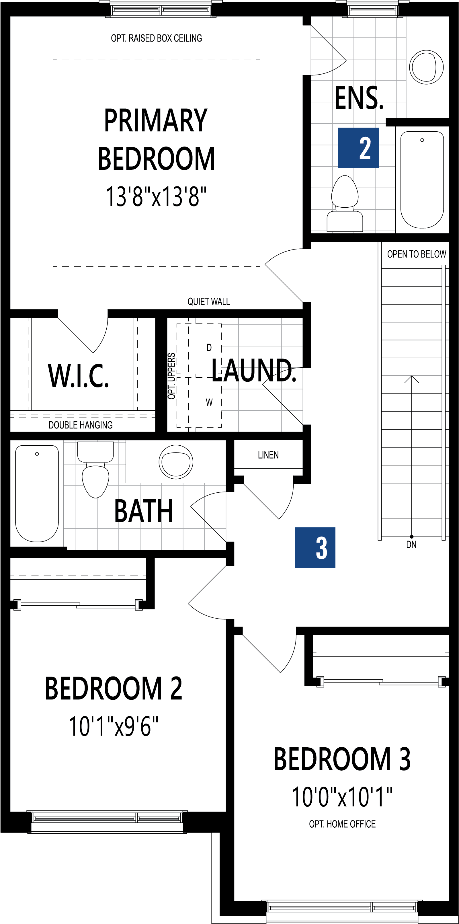 The Princeton Plan Floor Plan at Wildflower Crossing in Kitchener Ontario by Mattamy Homes