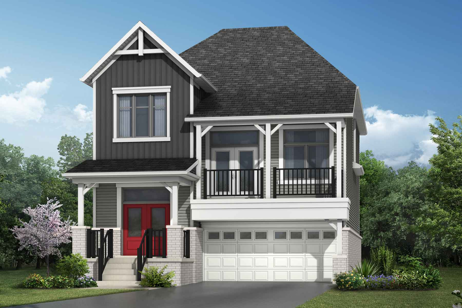 The Thorndale Plan farmhouse_southestates_thorndale at Wildflower Crossing in Kitchener Ontario by Mattamy Homes
