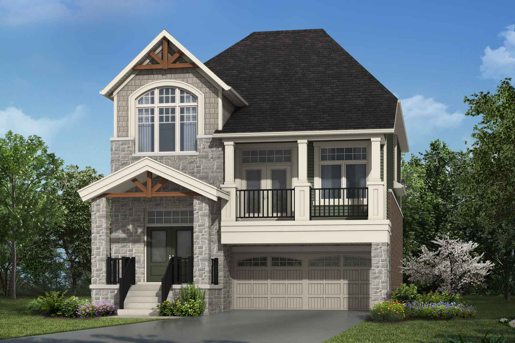 The Thorndale Plan Elevation Front at Wildflower Crossing in Kitchener Ontario by Mattamy Homes